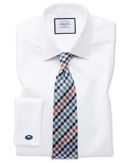 Klassische Krawatte mit Gingham-Karos in Korallenrot
