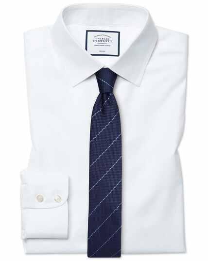 Bügelfreies Extra Slim Fit Twill-Hemd in Weiß