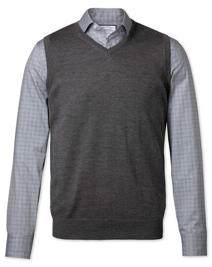 Charcoal merino sweater vest