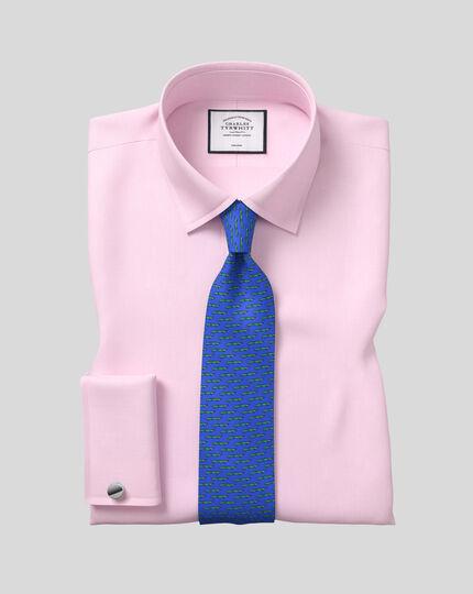 Klassische Krawatte aus Seide mit Alligator-Print - Königsblau & Grün