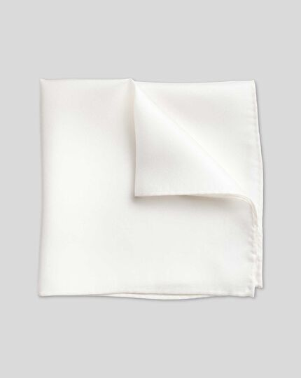 Evening Silk Pocket Square - White