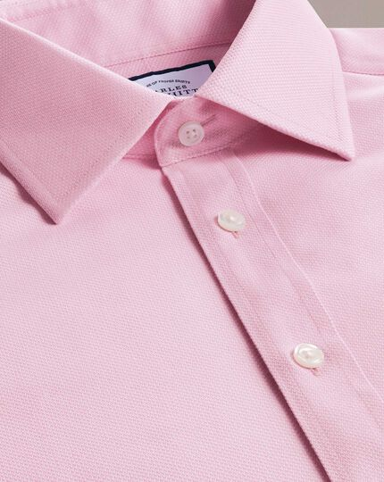 Slim fit non-iron pink arrow weave shirt