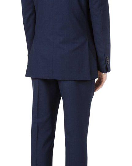 Indigo blue slim fit Panama puppytooth business suit jacket