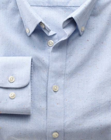 Classic fit modern Oxford sky blue fleck shirt