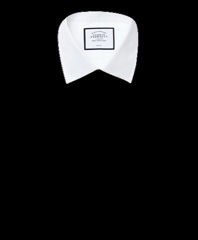 Slim fit non-iron white royal Panama shirt