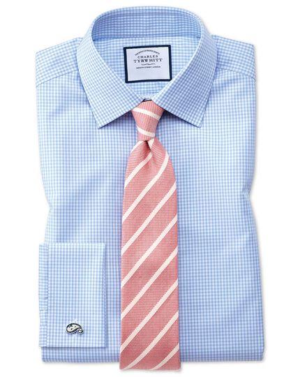 Coral linen silk stripe classic tie