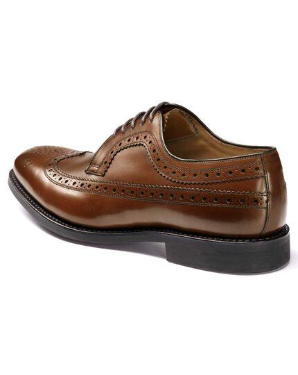 Goodyear rahmengenähte Budapester Derby-Schuhe aus Wildleder