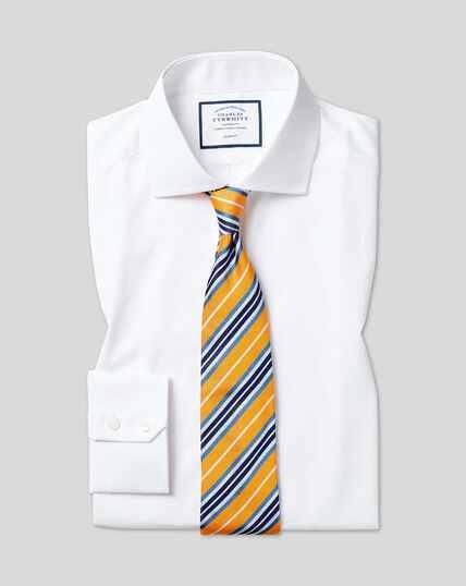 Cutaway Collar Poplin Shirt - White