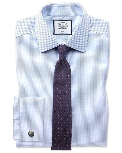 Purple silk textured neat slim tie