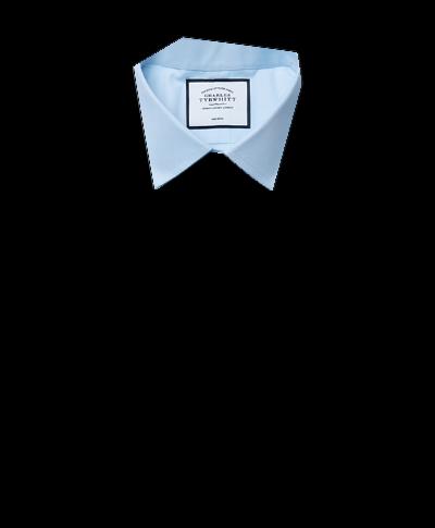 Classic fit sky blue non-iron poplin shirt