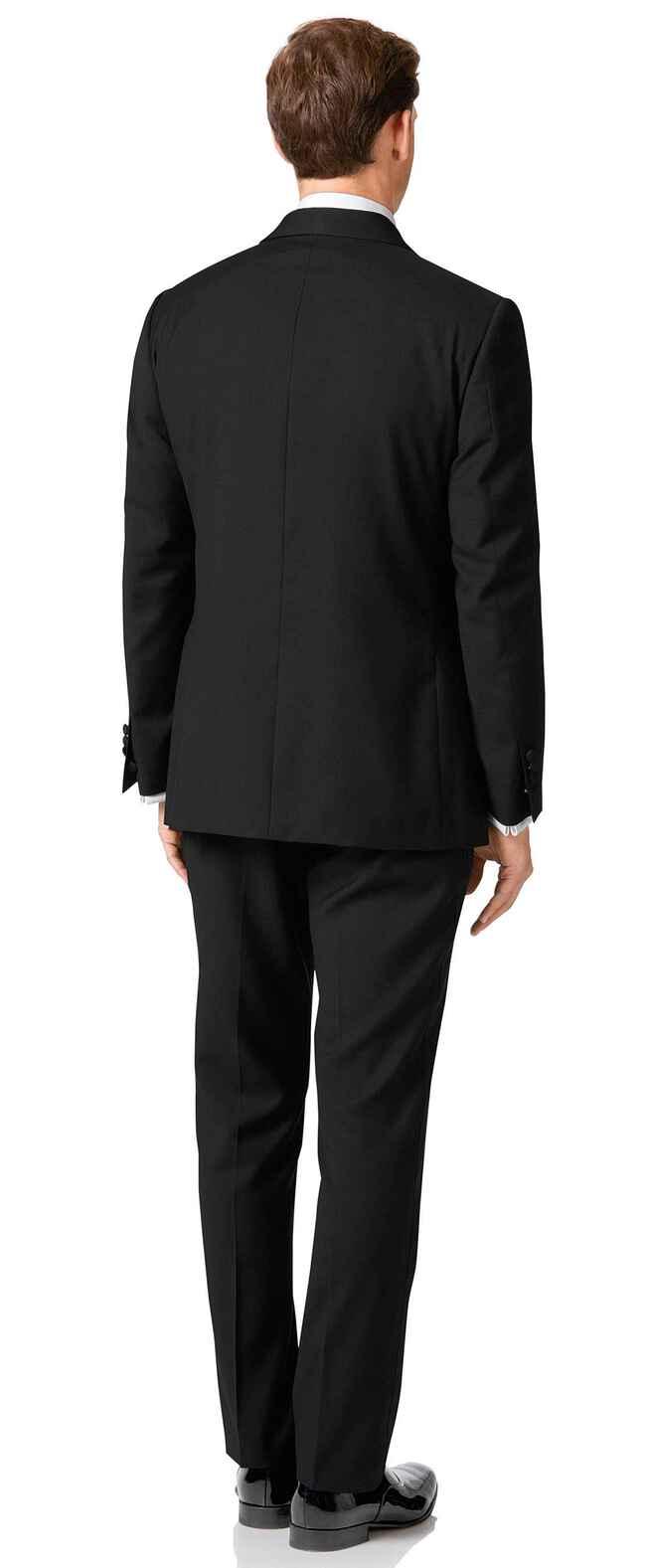 Black classic fit shawl collar tuxedo