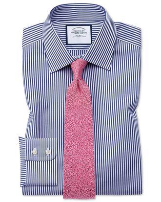 Extra Slim Fit Hemd in Marineblau mit Bengal-Streifen