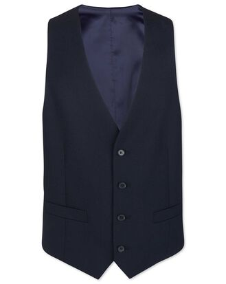 Midnight blue adjustable fit merio business suit waistcoat