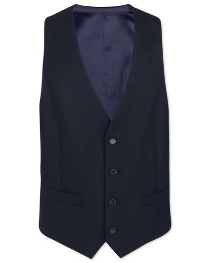 Midnight blue adjustable fit merino business suit waistcoat