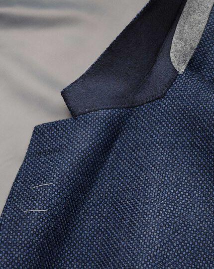 Slim fit blue birdseye lambswool jacket