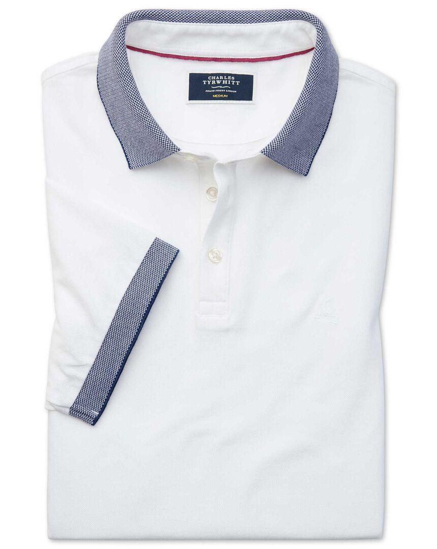 White Oxford Lapwing polo