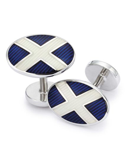 St Andrews flag enamel cufflinks
