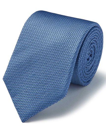 Light blue silk plain classic tie