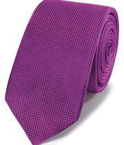 Magenta mini pindot slim tie