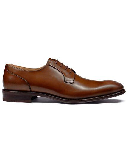 Derby-Schuhe in Gelbbraun