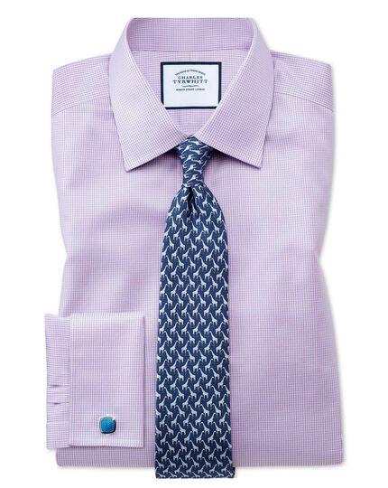 Navy silk giraffe print classic tie