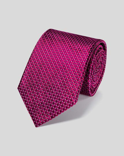 Stain Resistant Silk Classic Tie - Berry