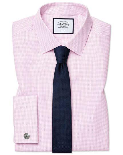 Navy silk slim textured semi plain classic tie