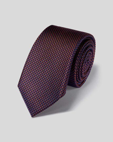 Stain Resistant Silk Slim Tie - Rust