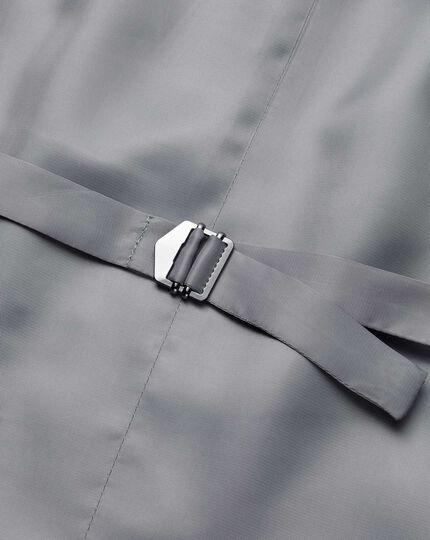 Slim Fit Reiseanzug-Weste mit Pfauenaugenmuster in Grau