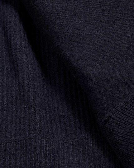 Navy knit back vest