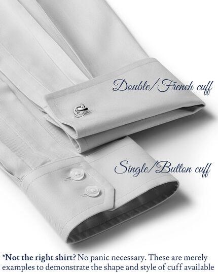 Slim fit cutaway collar non-iron stripe white and navy shirt