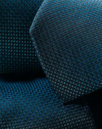 Stain Resistant Silk Slim Tie - Green