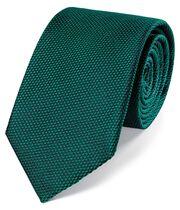 Klassische einfarbige Krawatte aus Seide in Blaugrün
