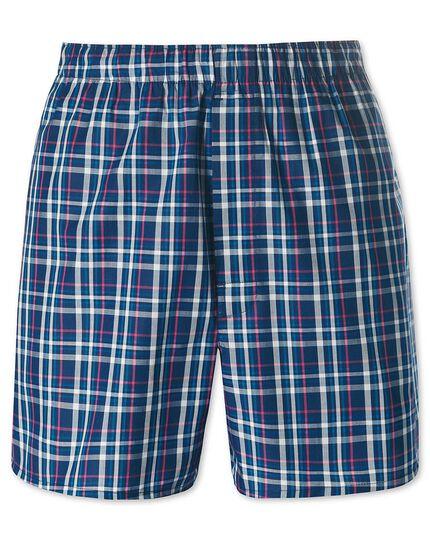 Royal plaid woven boxers