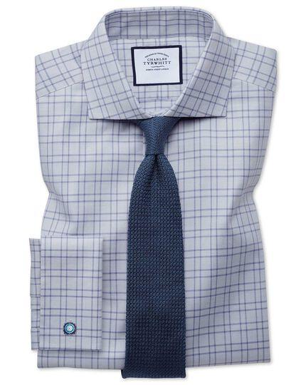 Navy silk plain grenadine Italian luxury tie