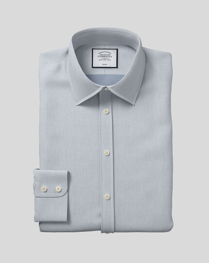 Classic Collar Non-Iron Micro Diamond Shirt - Grey