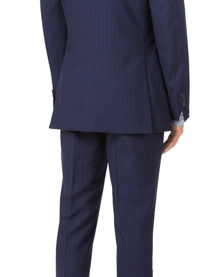 Navy slim fit Panama stripe business suit jacket