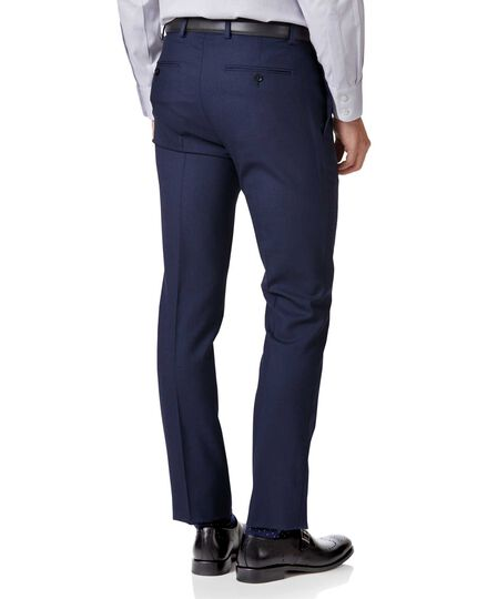 Royal blue extra slim fit merino business suit pants