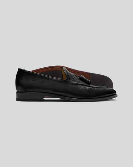 Flexible Tassel Loafer  - Black