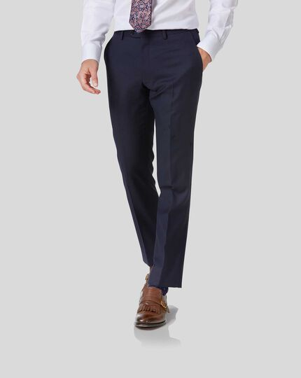 Twill Business Suit Trousers - Navy
