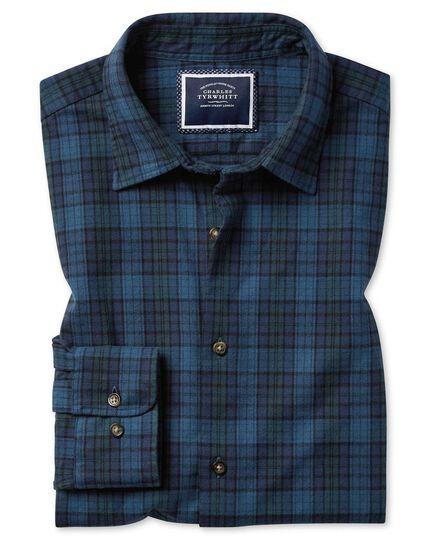 Winter Flannel Tartan Check Shirt - Blue