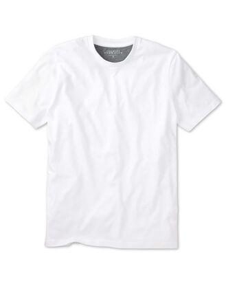 T-Shirt aus Baumwolle in Weiß