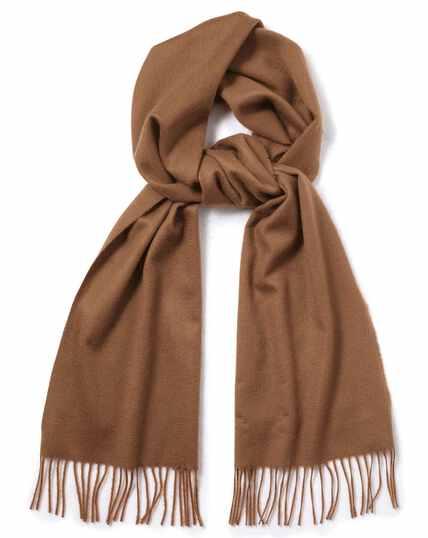 Camel cashmere scarf