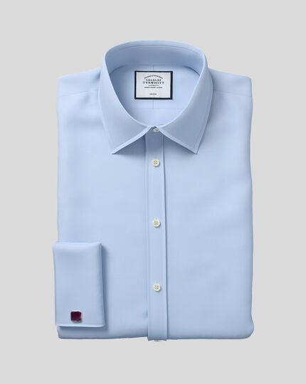 Classic Collar Non-Iron Twill Shirt  - Sky