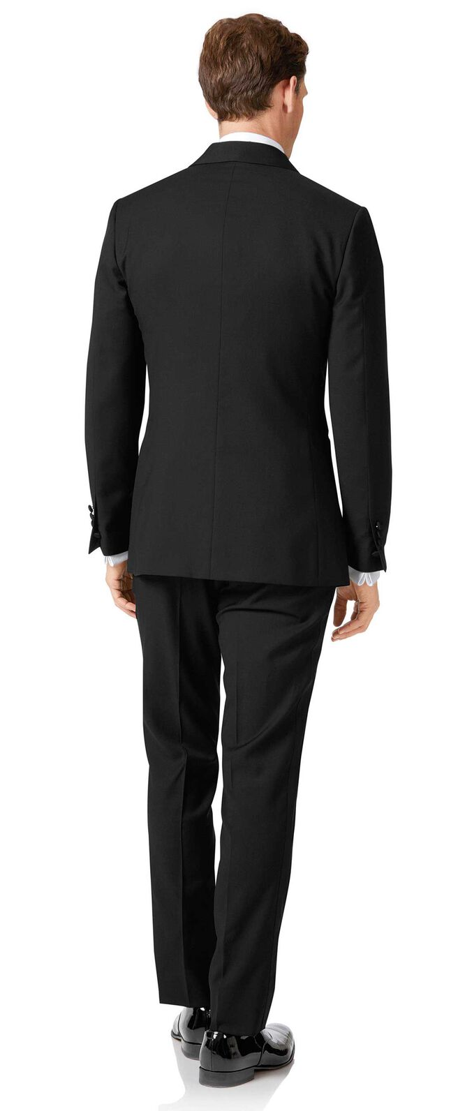 Black extra slim fit dinner suit