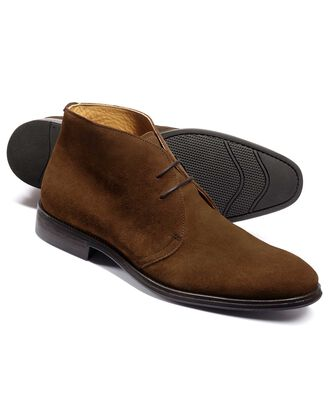 Brown suede performance chukka boot