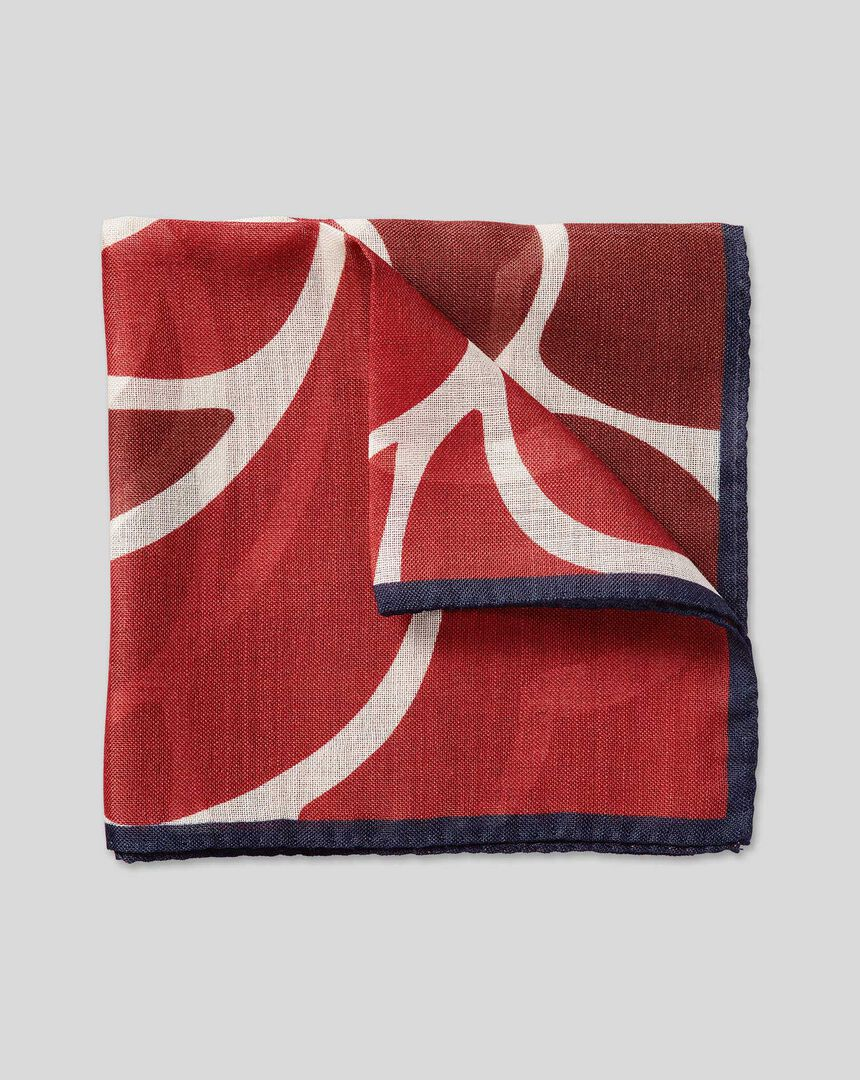 England Rugby English Rose Pocket Square - Red
