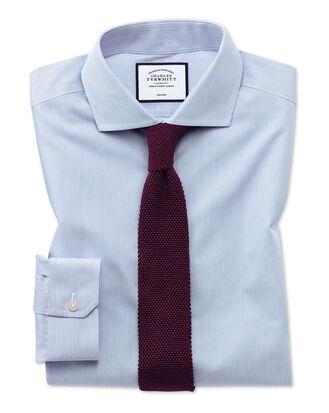 Super slim fit non-iron blue stripe natural cool shirt