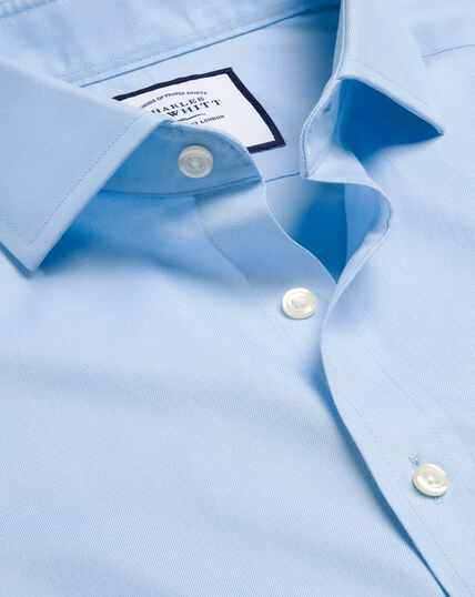 Spread Collar Non-Iron Twill Shirt - Sky