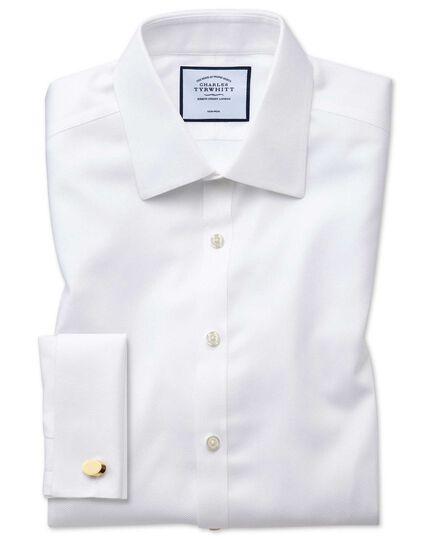 Non-Iron Arrow Weave Shirt - White